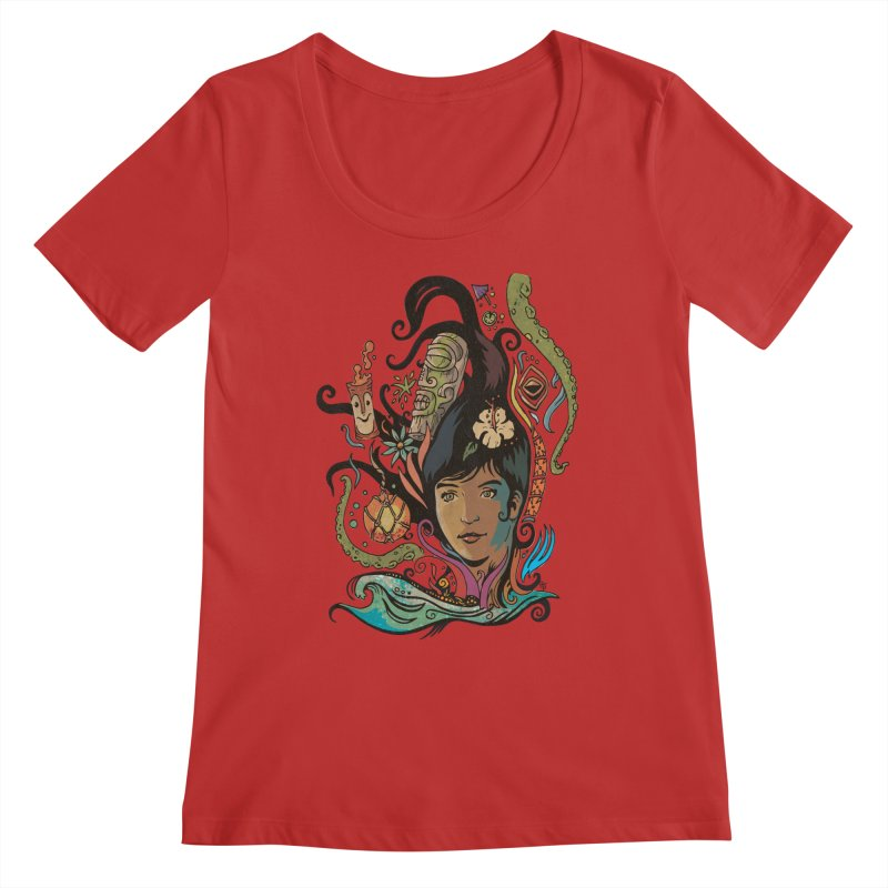 Wahine #4 Women's Regular Scoop Neck by Zerostreet's Artist Shop