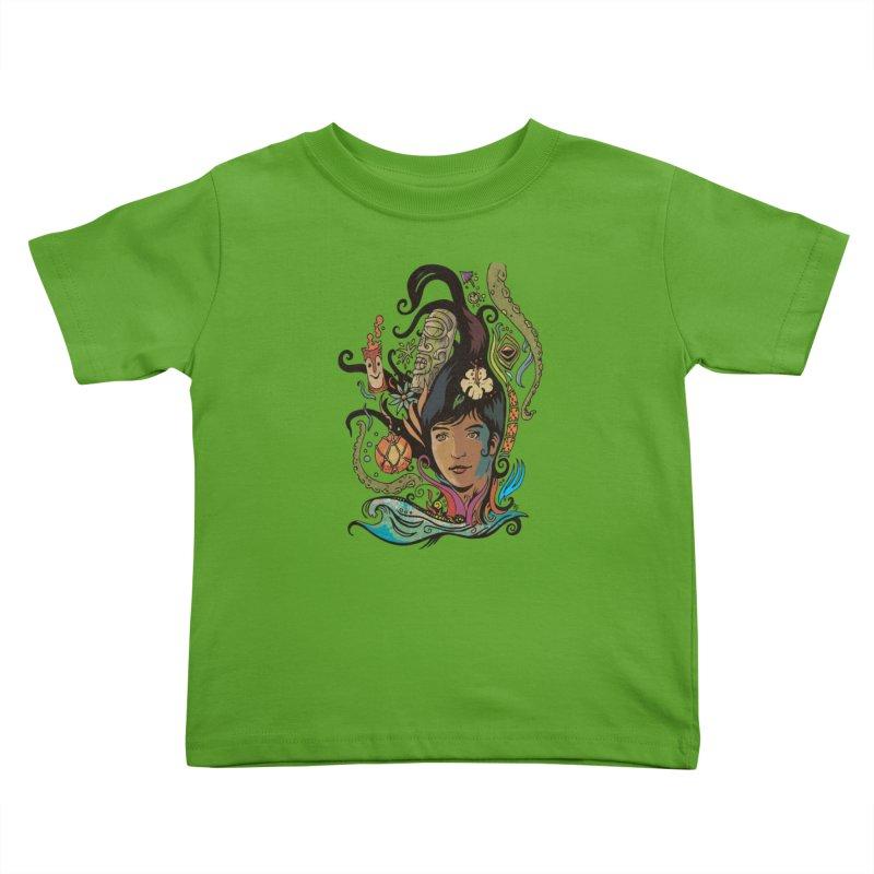 Wahine #4 Kids Toddler T-Shirt by Zerostreet's Artist Shop