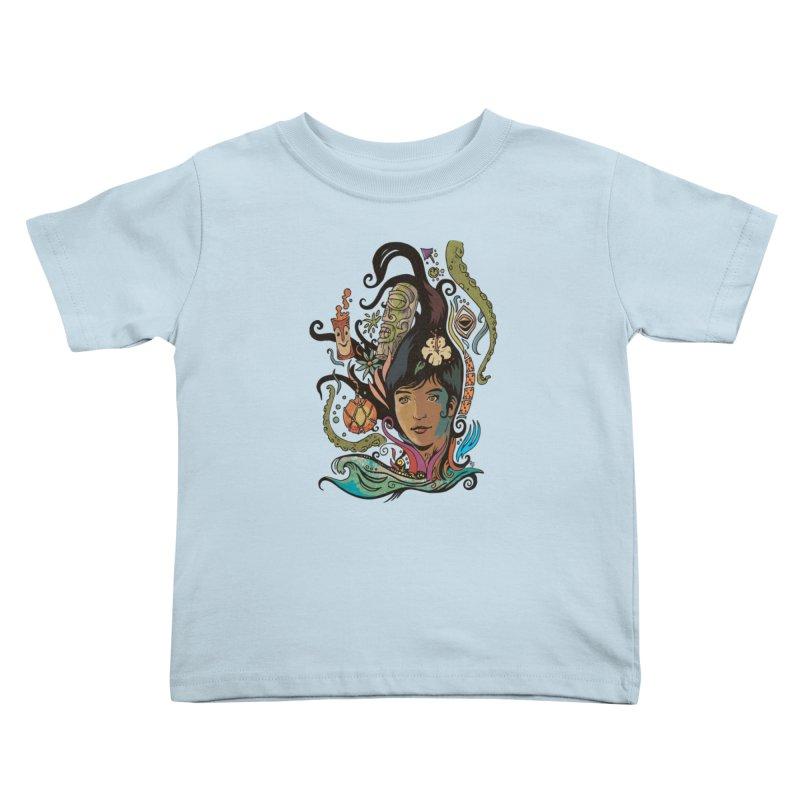 Wahine #4 Kids Toddler T-Shirt by Zero Street's Artist Shop