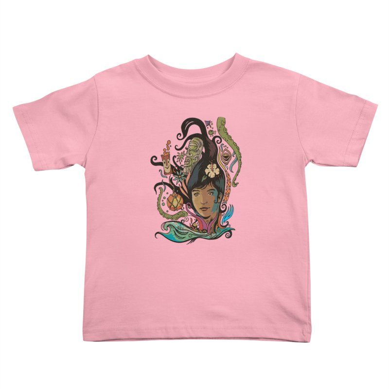 Wahine #4 Kids Toddler T-Shirt by Zerostreet's Artist Shop