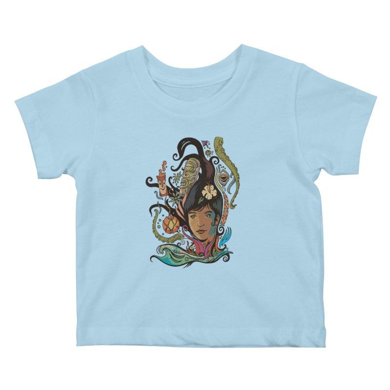 Wahine #4 Kids Baby T-Shirt by Zerostreet's Artist Shop