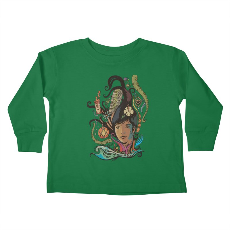 Wahine #4 Kids Toddler Longsleeve T-Shirt by Zerostreet's Artist Shop