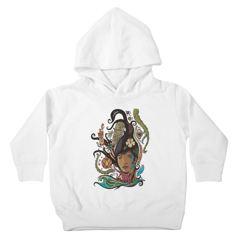 Wahine #4 Kids Toddler Pullover Hoody by Zerostreet's Artist Shop