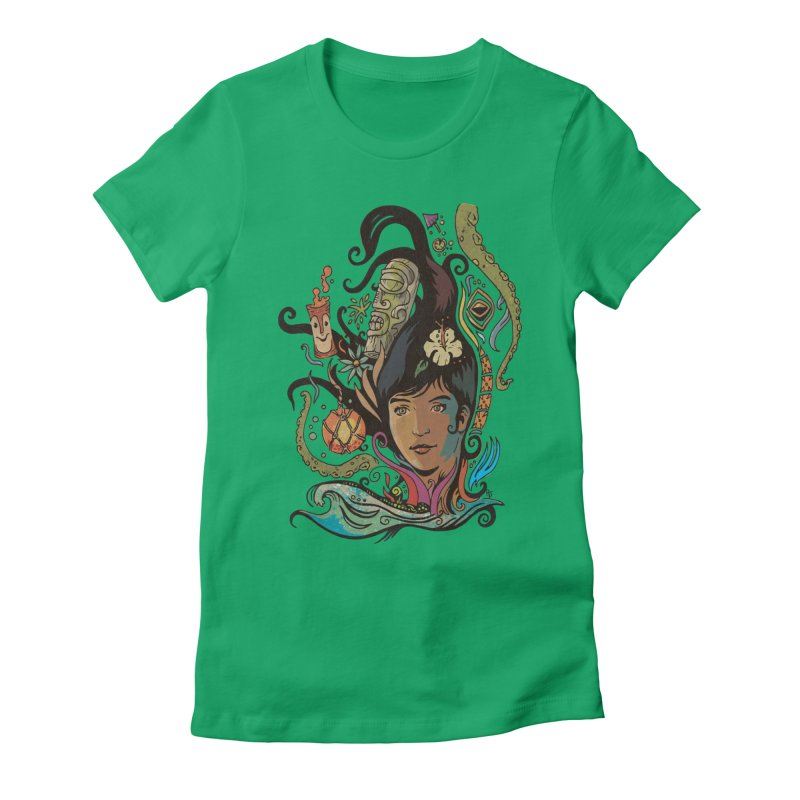 Wahine #4 Women's Fitted T-Shirt by Zero Street's Artist Shop