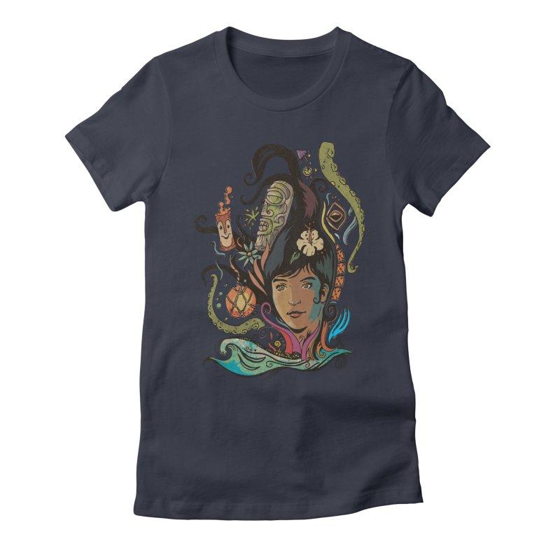 Wahine #4 Women's Fitted T-Shirt by Zerostreet's Artist Shop
