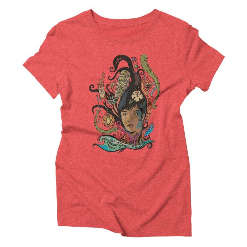 Wahine #4 Women's Triblend T-Shirt by Zerostreet's Artist Shop