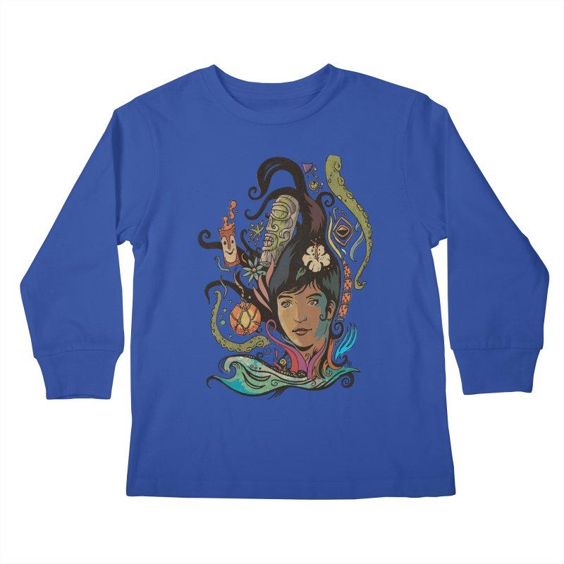 Wahine #4 Kids Longsleeve T-Shirt by Zero Street's Artist Shop