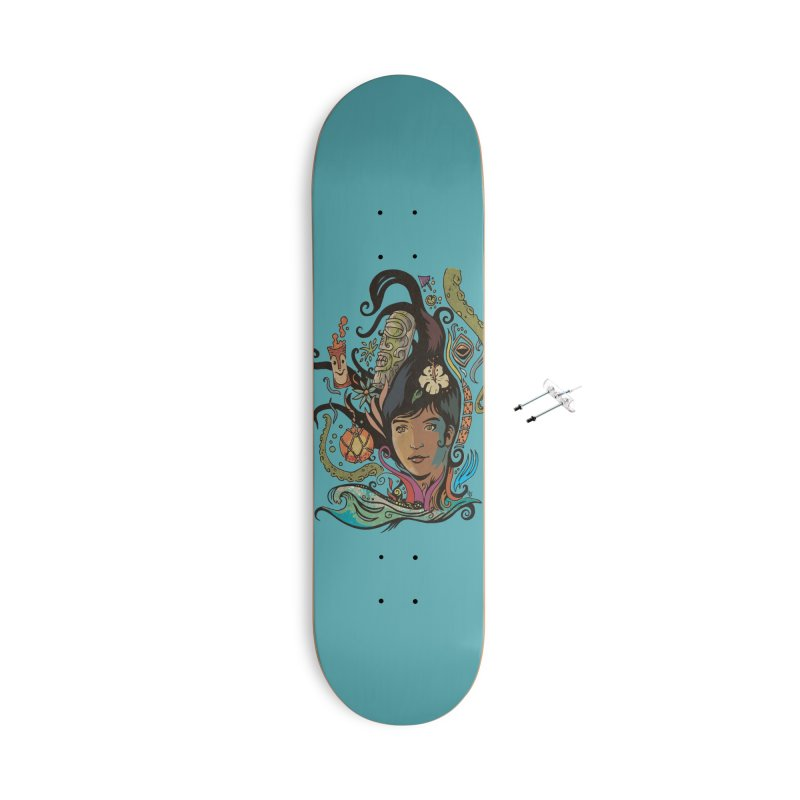 Wahine #4 Accessories With Hanging Hardware Skateboard by Zero Street's Artist Shop