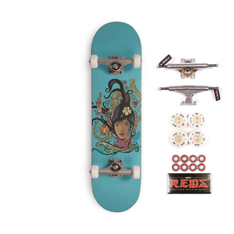 Wahine #4 Accessories Complete - Pro Skateboard by Zerostreet's Artist Shop