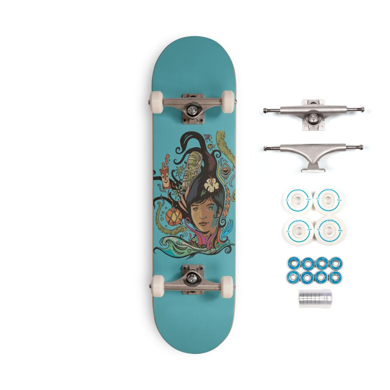 Wahine #4 Accessories Complete - Basic Skateboard by Zerostreet's Artist Shop
