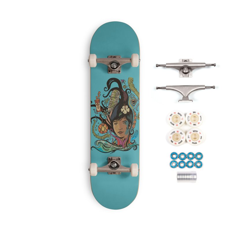 Wahine #4 Accessories Complete - Premium Skateboard by Zerostreet's Artist Shop