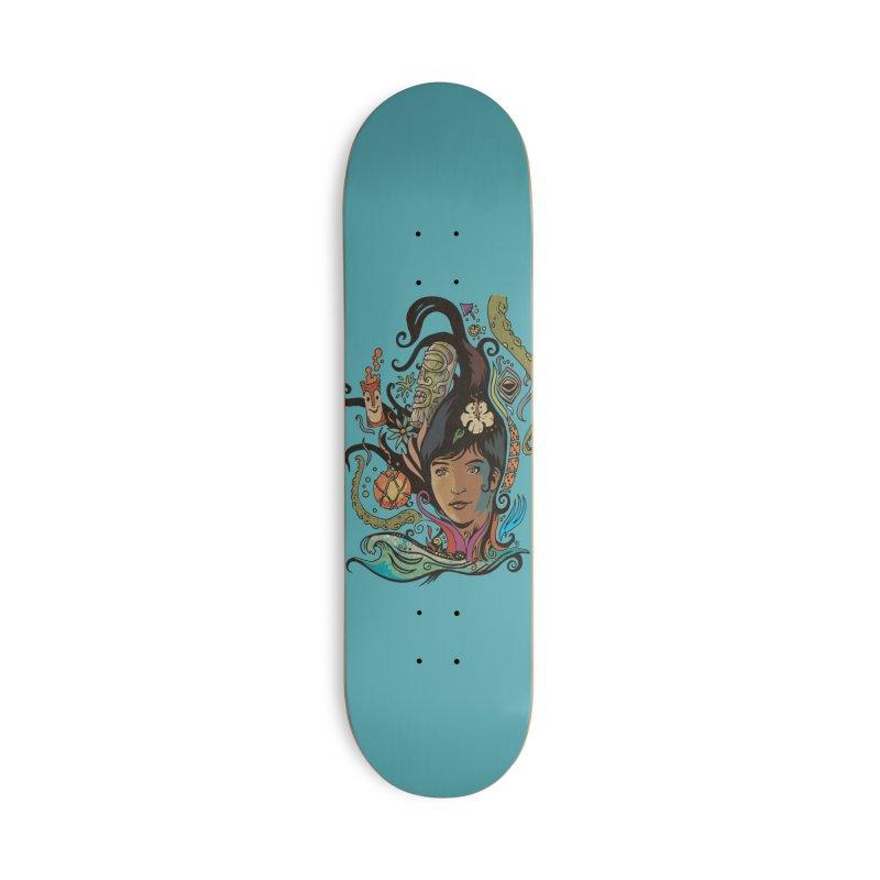 Wahine #4 Accessories Deck Only Skateboard by Zerostreet's Artist Shop