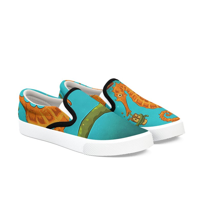 Drinking Buddies Women's Slip-On Shoes by Zerostreet's Artist Shop