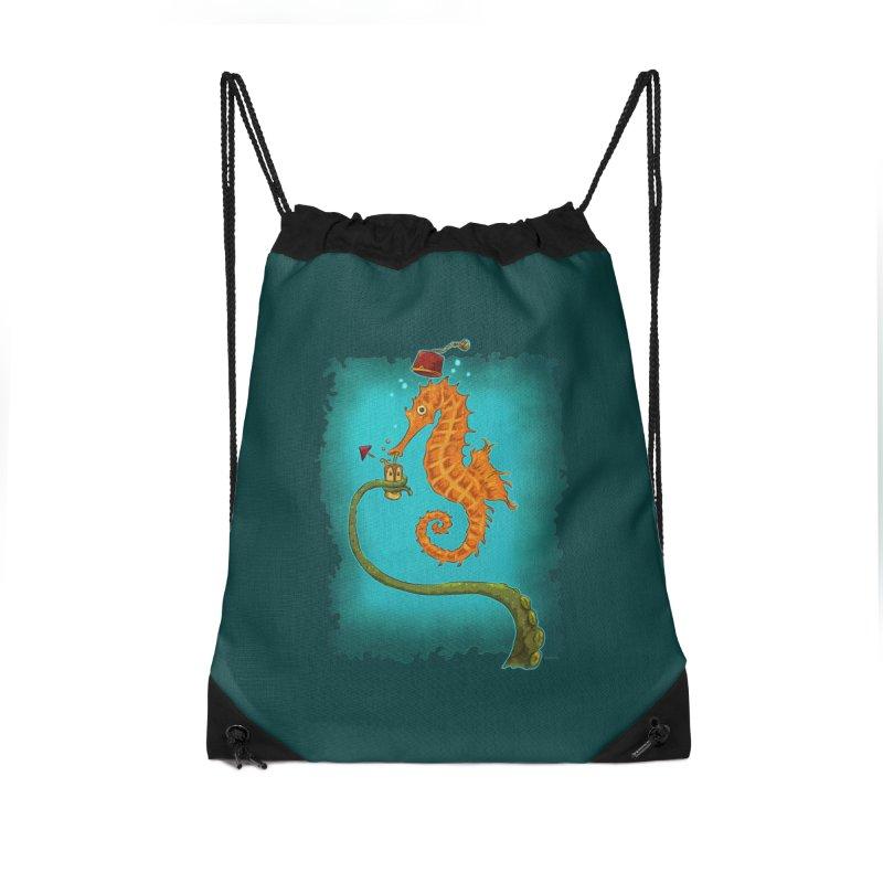 Drinking Buddies Accessories Drawstring Bag Bag by Zero Street's Artist Shop