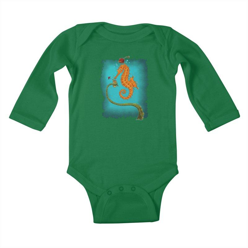 Drinking Buddies Kids Baby Longsleeve Bodysuit by Zerostreet's Artist Shop
