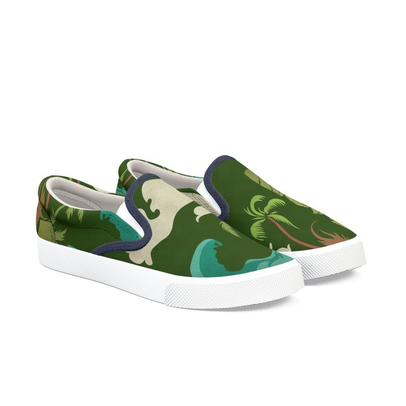 Surf Ku Women's Slip-On Shoes by Zerostreet's Artist Shop