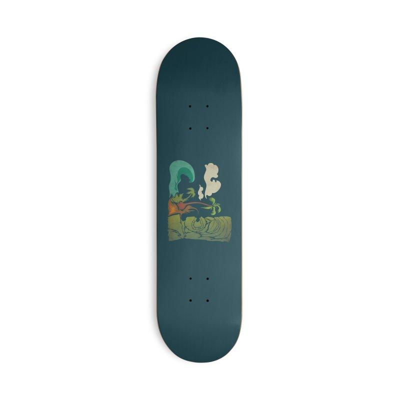 Surf Ku Accessories Deck Only Skateboard by Zerostreet's Artist Shop