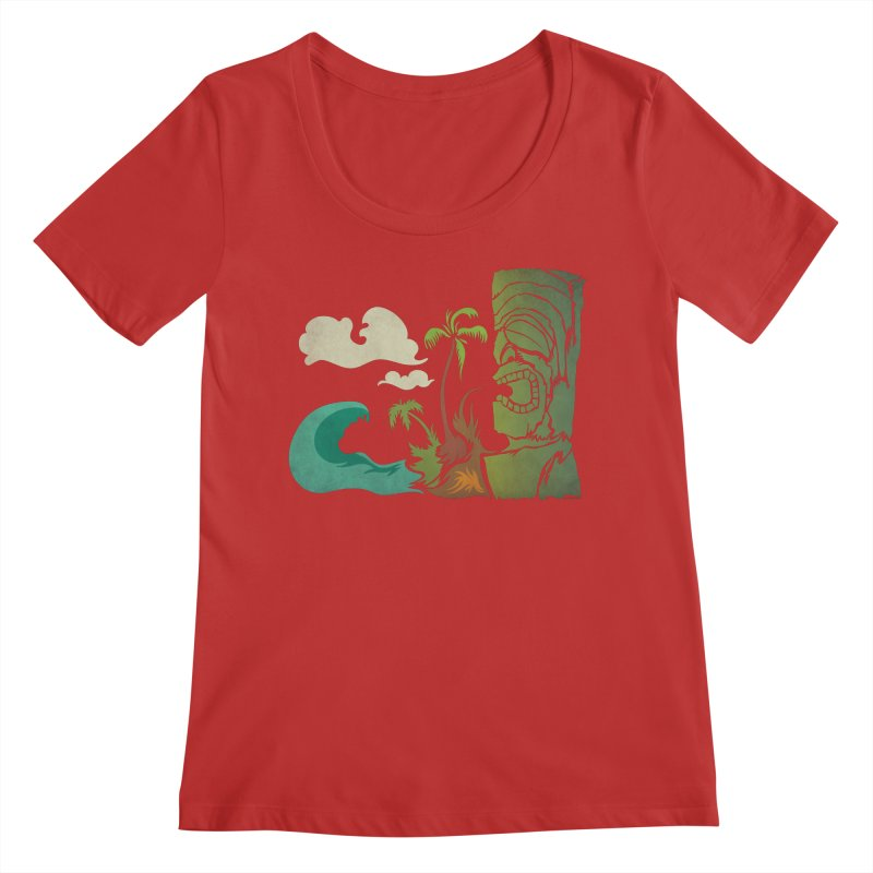 Surf Ku Women's Regular Scoop Neck by Zerostreet's Artist Shop