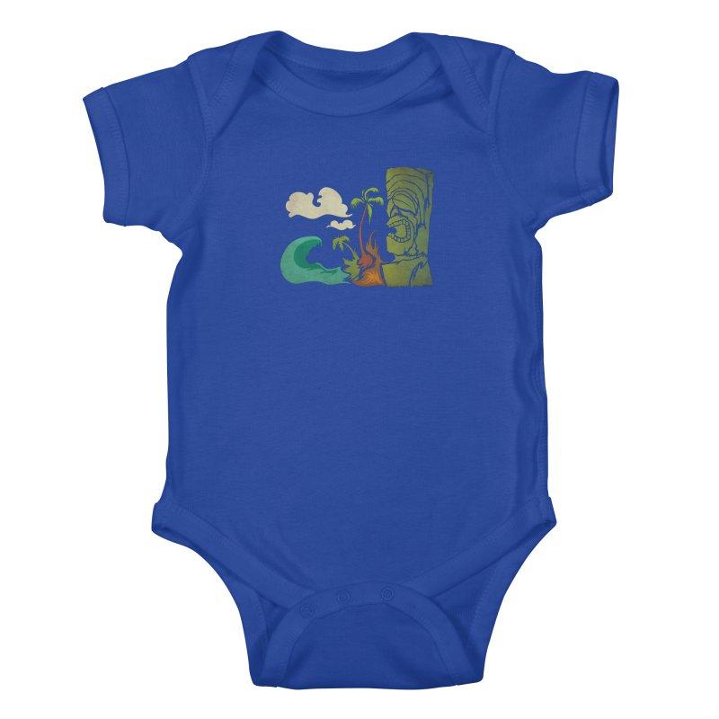 Surf Ku Kids Baby Bodysuit by Zerostreet's Artist Shop