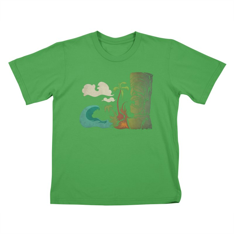 Surf Ku Kids T-Shirt by Zerostreet's Artist Shop