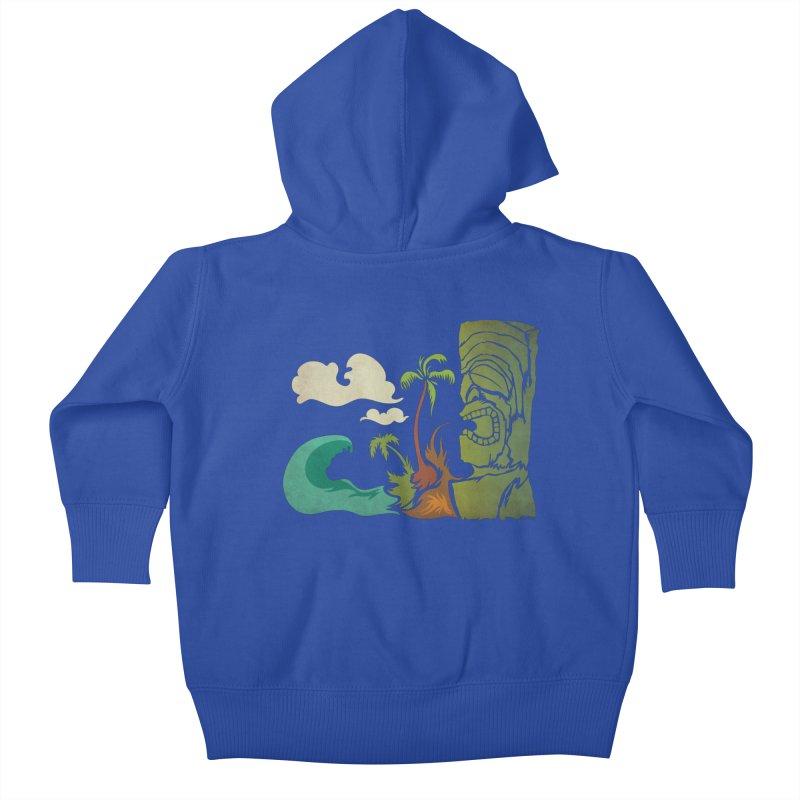 Surf Ku Kids Baby Zip-Up Hoody by Zerostreet's Artist Shop