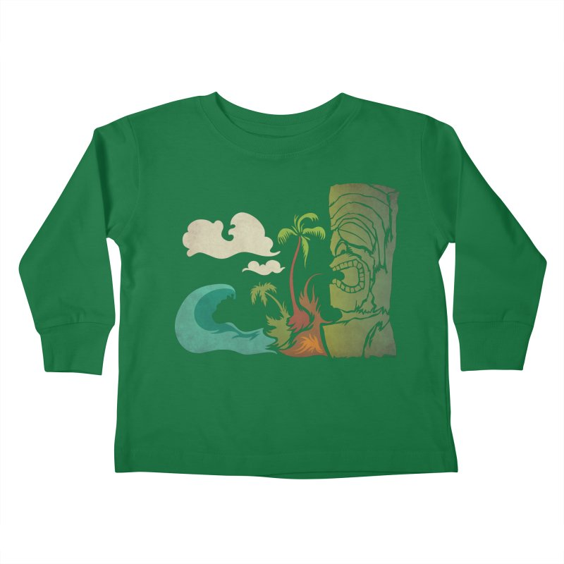 Surf Ku Kids Toddler Longsleeve T-Shirt by Zerostreet's Artist Shop