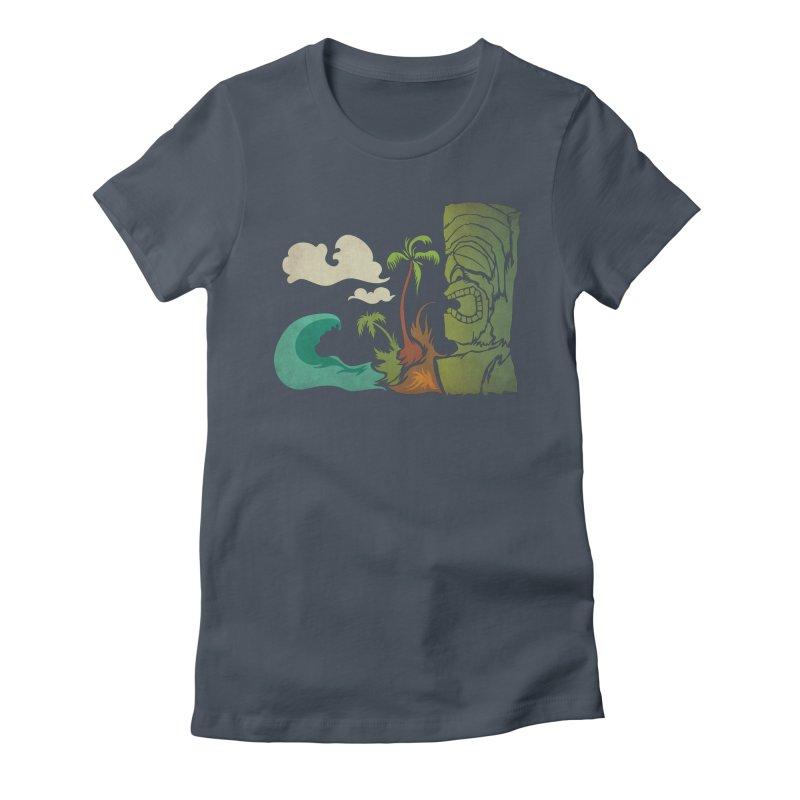 Surf Ku Women's Fitted T-Shirt by Zerostreet's Artist Shop