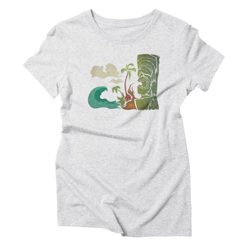 Surf Ku Women's Triblend T-Shirt by Zerostreet's Artist Shop