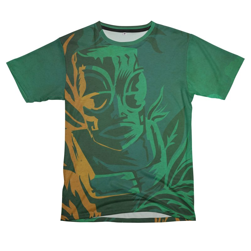 Tiki Moon Women's Unisex French Terry T-Shirt Cut & Sew by Zerostreet's Artist Shop