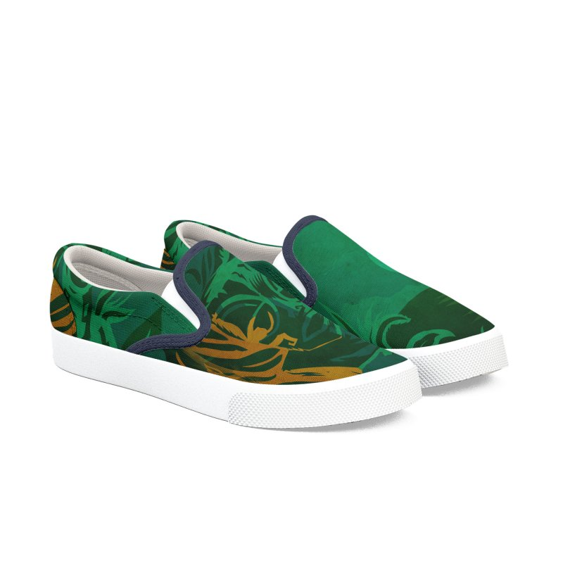 Tiki Moon Women's Slip-On Shoes by Zerostreet's Artist Shop