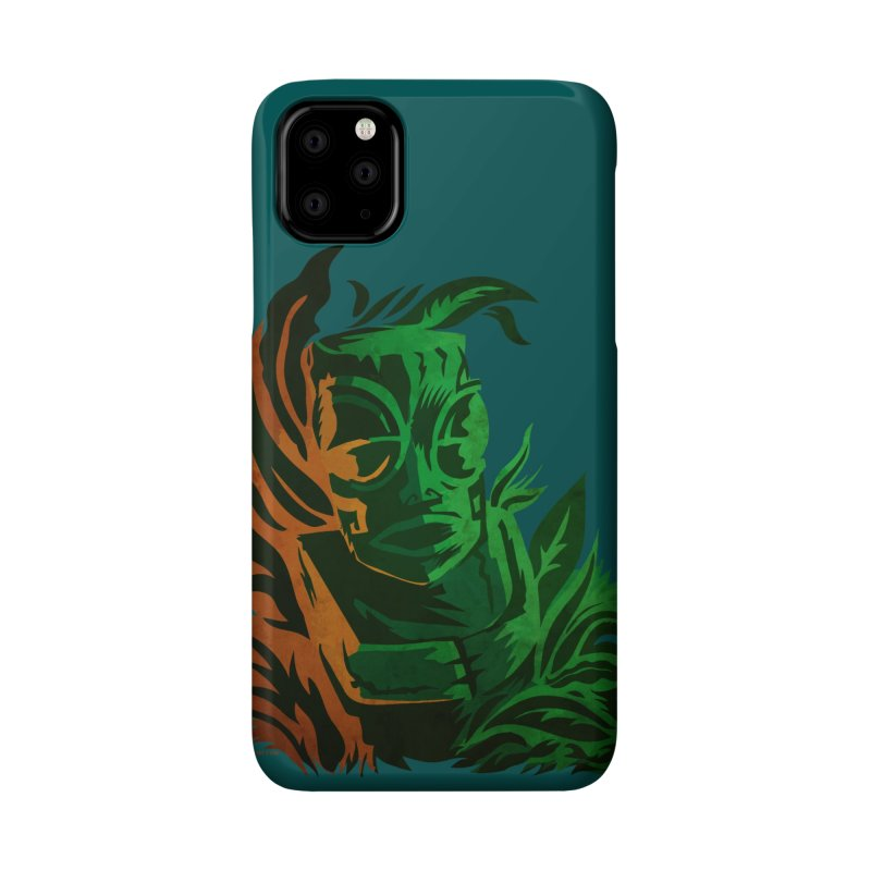 Tiki Moon Accessories Phone Case by Zerostreet's Artist Shop
