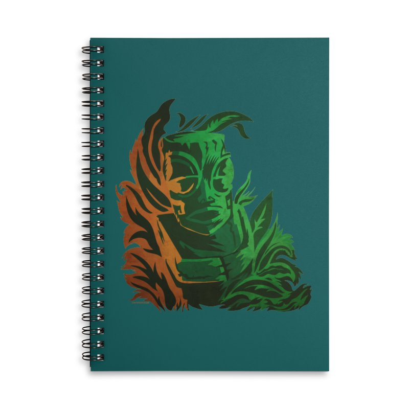 Tiki Moon Accessories Lined Spiral Notebook by Zerostreet's Artist Shop