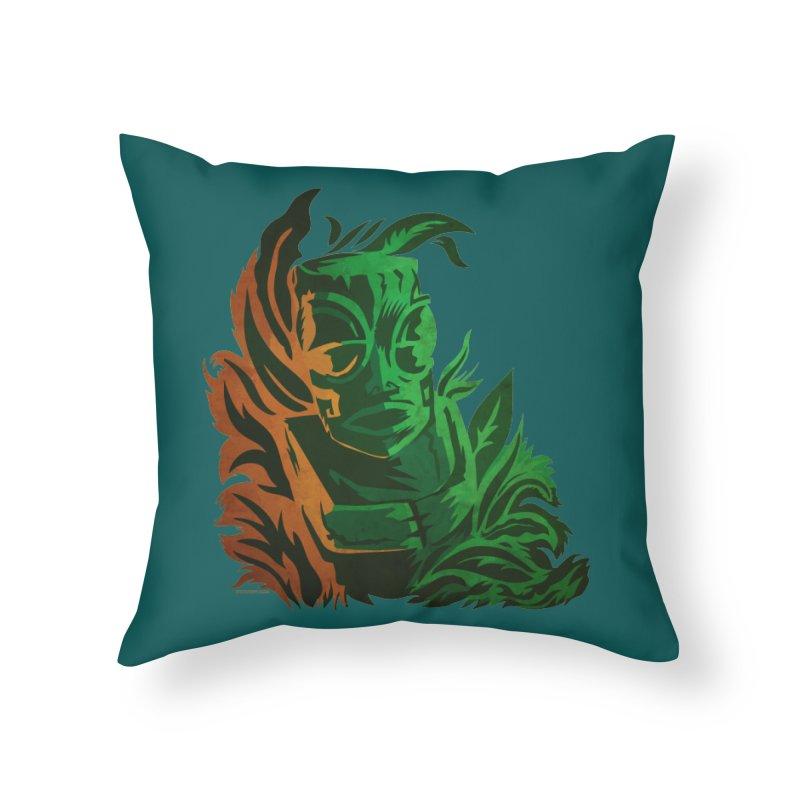 Tiki Moon Home Throw Pillow by Zerostreet's Artist Shop