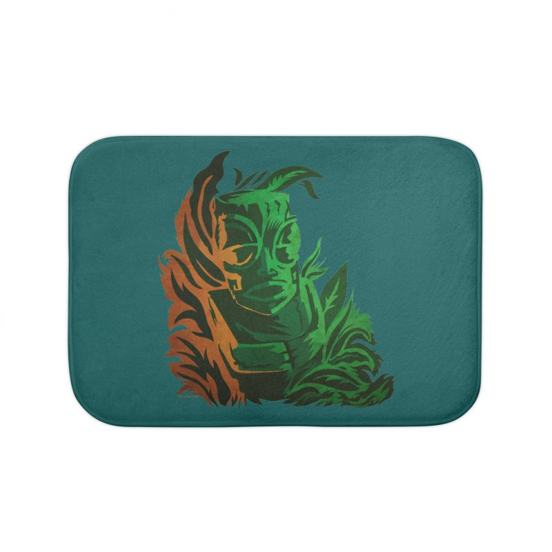 Tiki Moon Home Bath Mat by Zerostreet's Artist Shop