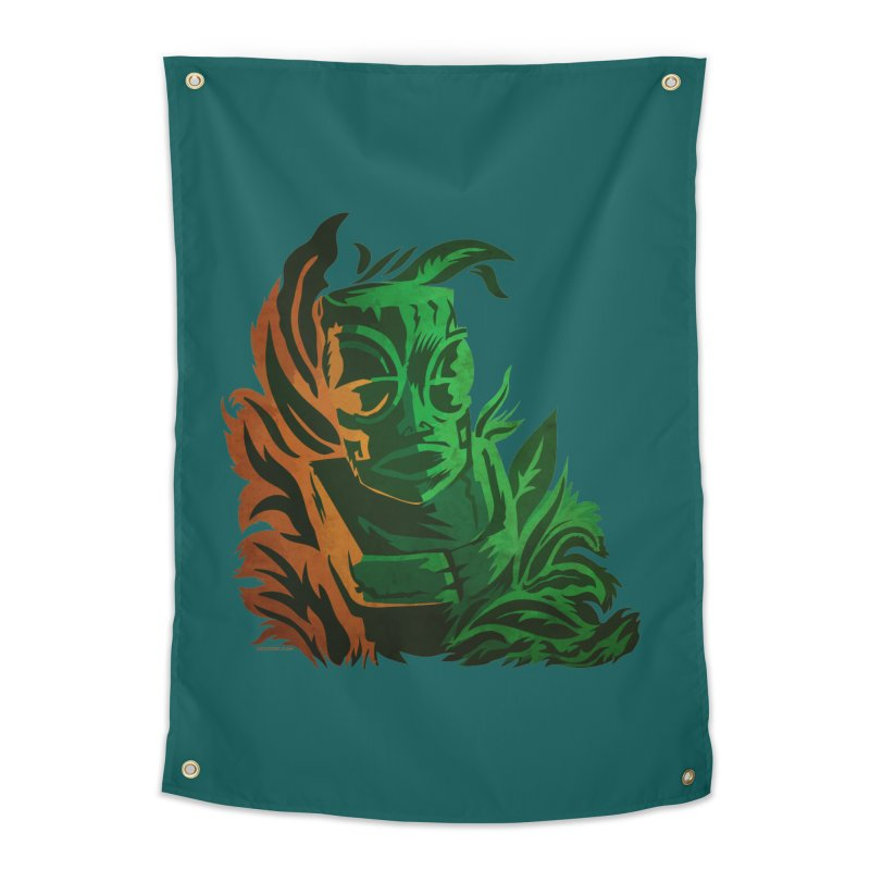 Tiki Moon Home Tapestry by Zerostreet's Artist Shop