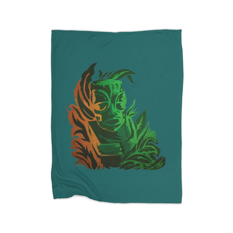 Tiki Moon Home Fleece Blanket Blanket by Zerostreet's Artist Shop
