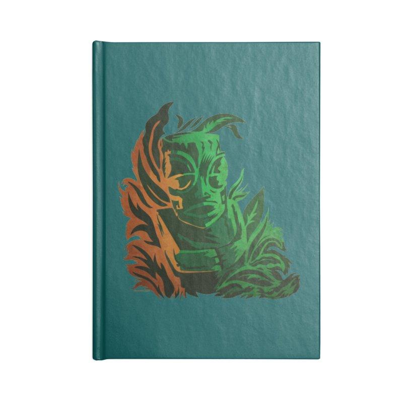 Tiki Moon Accessories Blank Journal Notebook by Zerostreet's Artist Shop