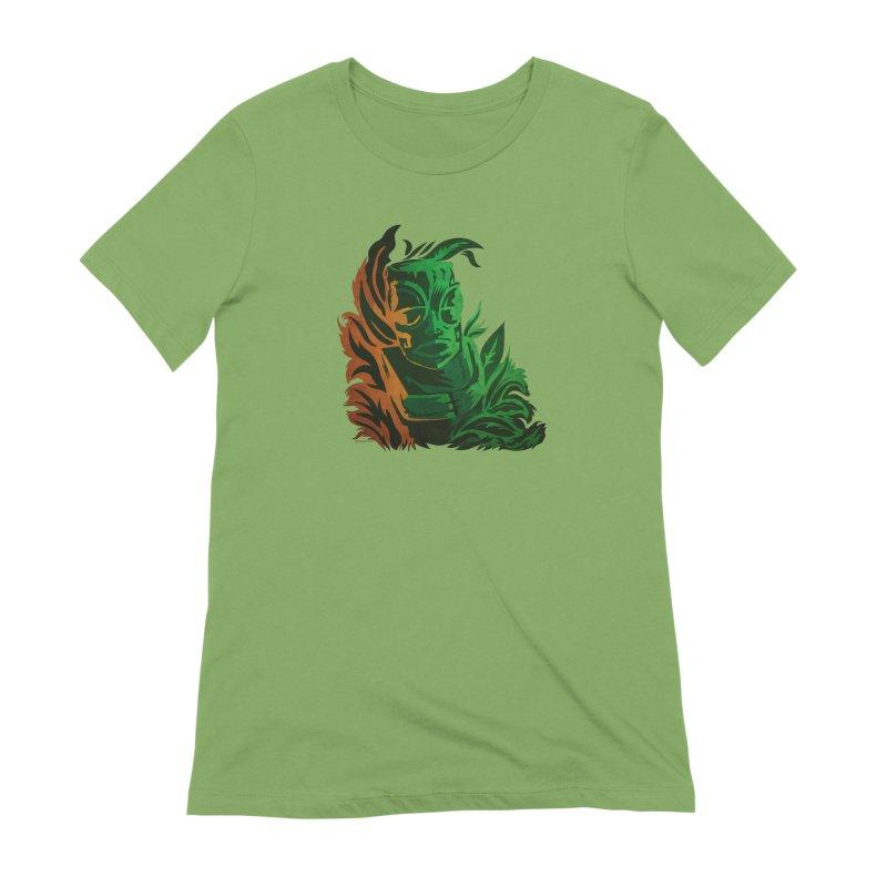 Tiki Moon Women's Extra Soft T-Shirt by Zerostreet's Artist Shop