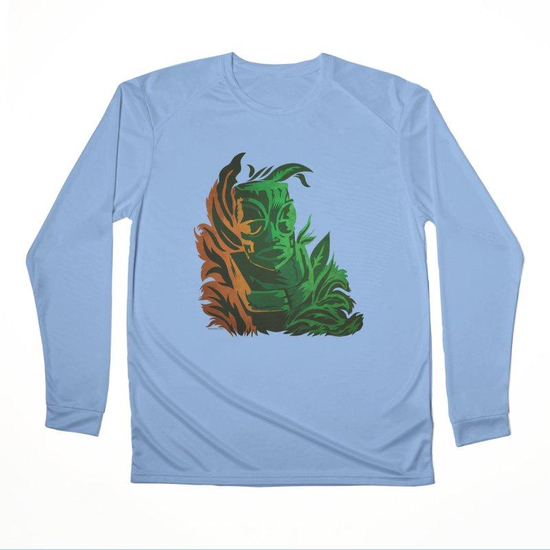 Tiki Moon Men's Performance Longsleeve T-Shirt by Zerostreet's Artist Shop