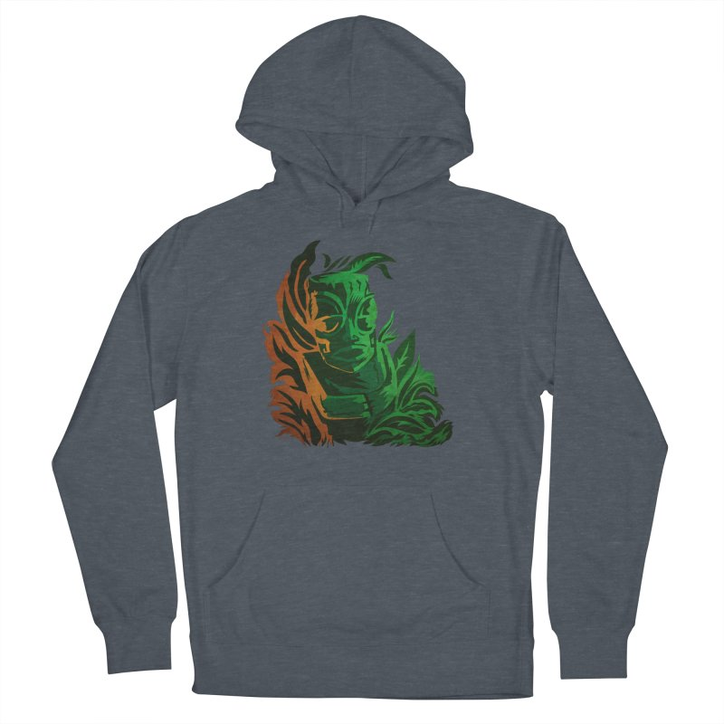 Tiki Moon Women's French Terry Pullover Hoody by Zerostreet's Artist Shop