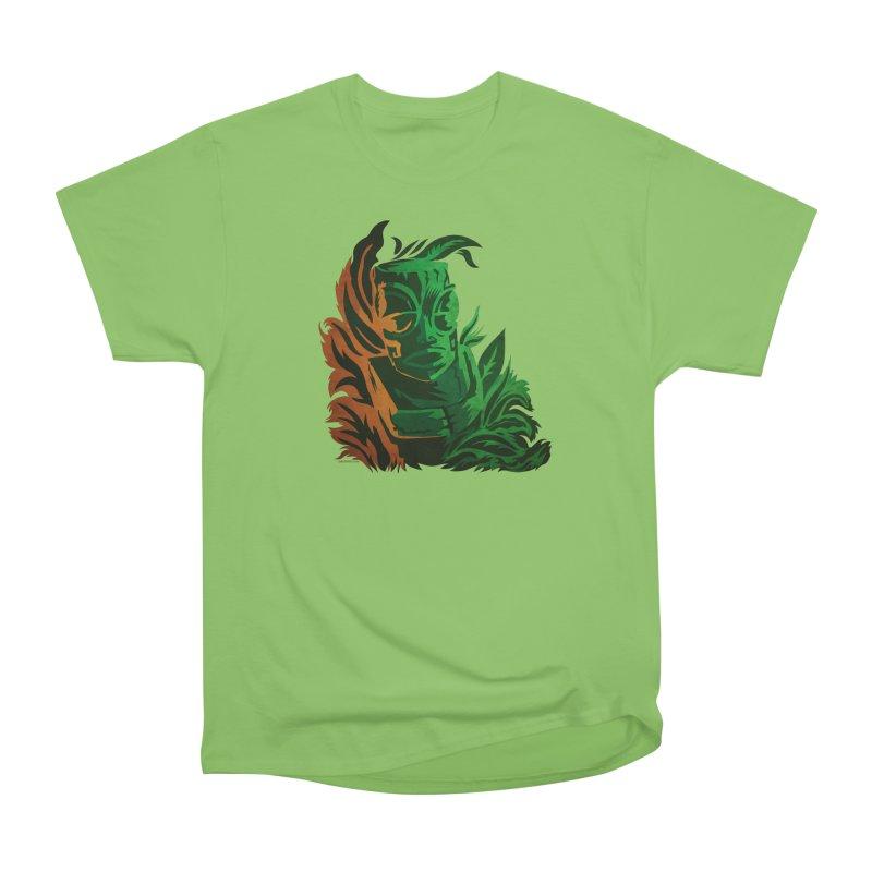 Tiki Moon Men's Heavyweight T-Shirt by Zerostreet's Artist Shop