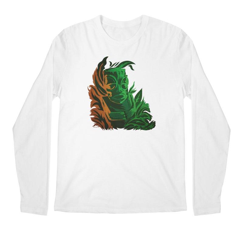 Tiki Moon Men's Regular Longsleeve T-Shirt by Zerostreet's Artist Shop