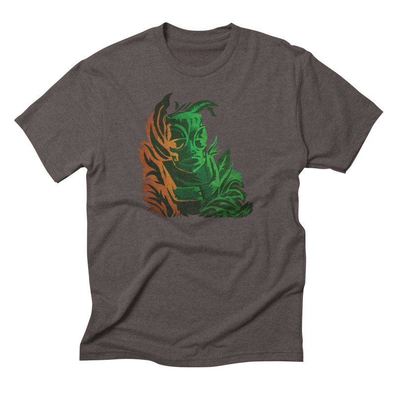 Tiki Moon Men's Triblend T-Shirt by Zerostreet's Artist Shop