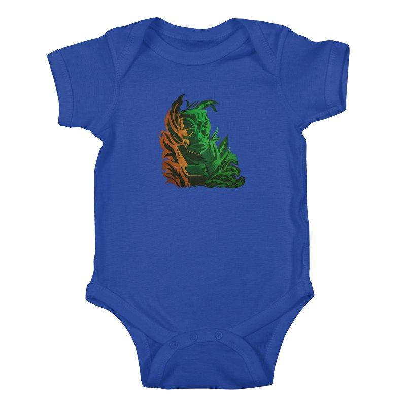 Tiki Moon Kids Baby Bodysuit by Zerostreet's Artist Shop