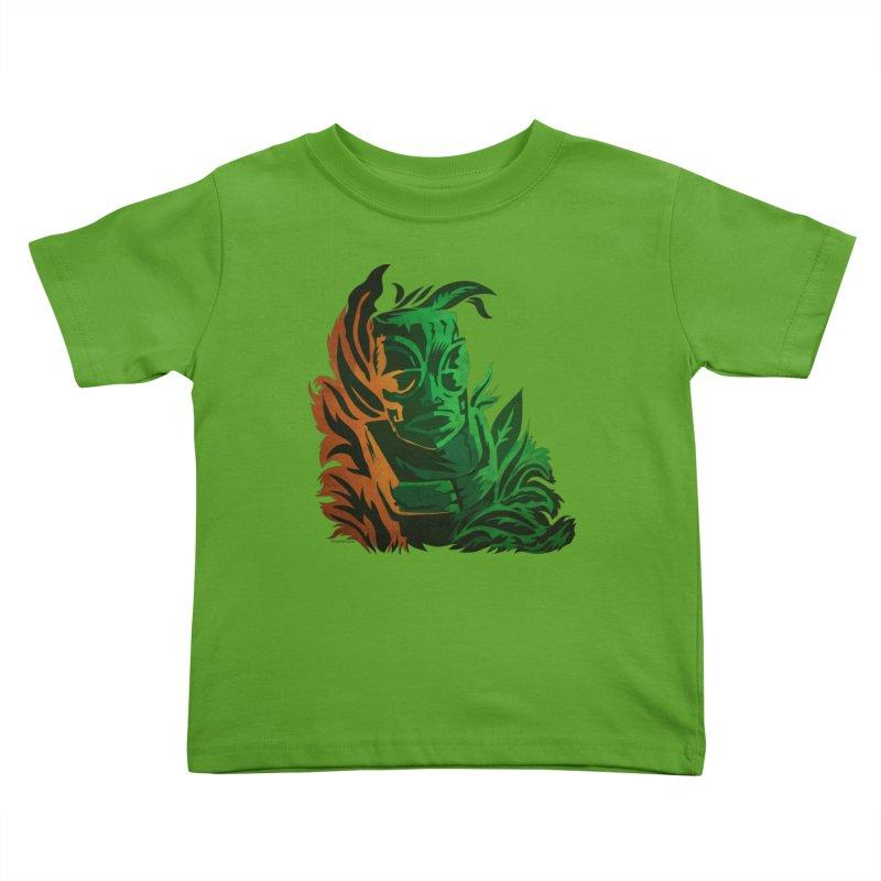 Tiki Moon Kids Toddler T-Shirt by Zerostreet's Artist Shop