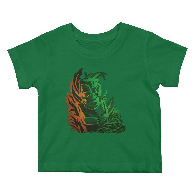 Tiki Moon Kids Baby T-Shirt by Zerostreet's Artist Shop