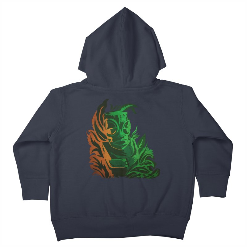 Tiki Moon Kids Toddler Zip-Up Hoody by Zerostreet's Artist Shop