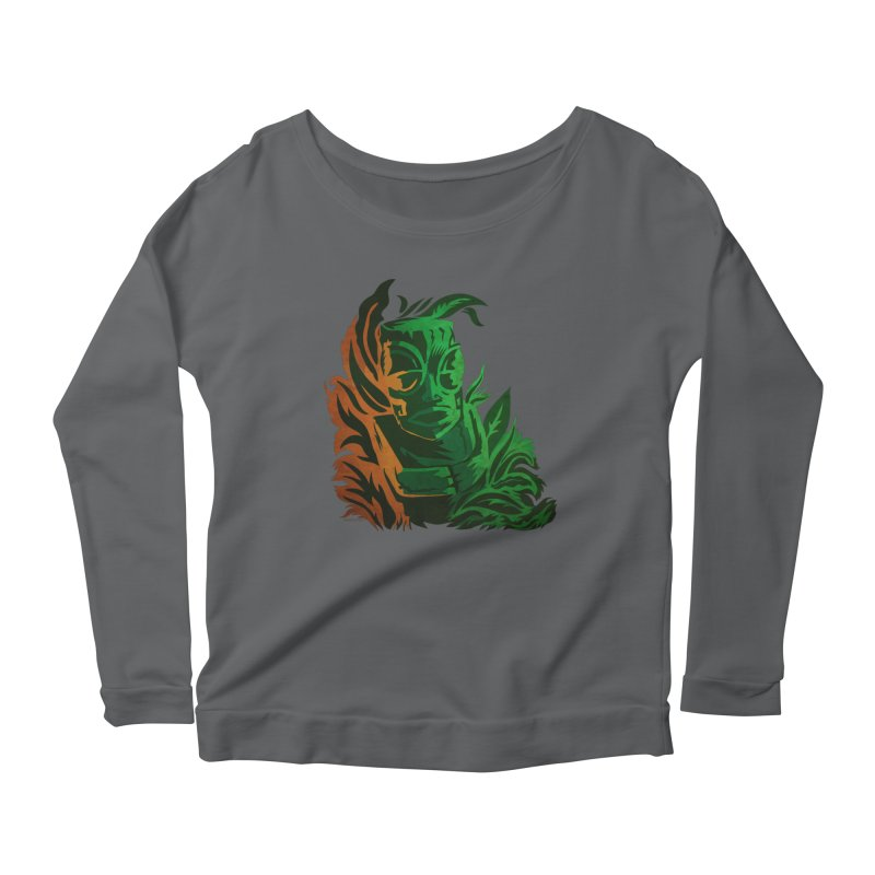 Tiki Moon Women's Scoop Neck Longsleeve T-Shirt by Zerostreet's Artist Shop