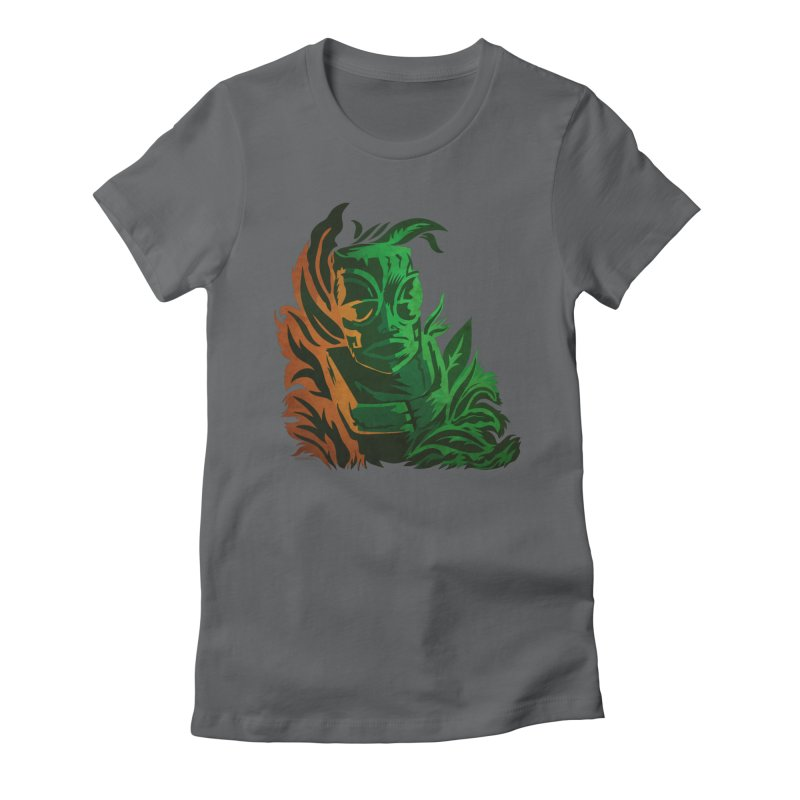Tiki Moon Women's Fitted T-Shirt by Zerostreet's Artist Shop