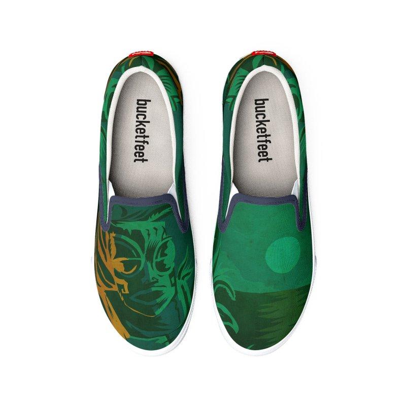 Tiki Moon Men's Shoes by Zerostreet's Artist Shop